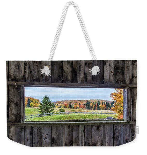 Framed-autumn In Vermont Weekender Tote Bag