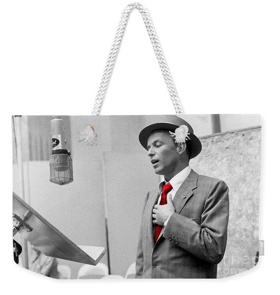 Frank Sinatra Painting Weekender Tote Bag