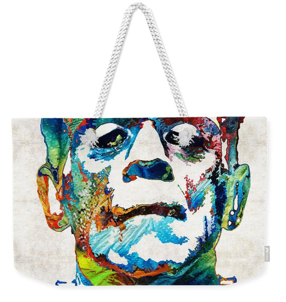 Frankenstein Art - Colorful Monster - By Sharon Cummings Weekender Tote Bag