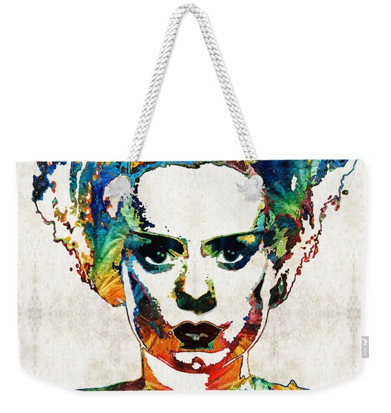 Frankenstein Bride Art - Colorful Monster Bride - By Sharon Cummings Weekender Tote Bag