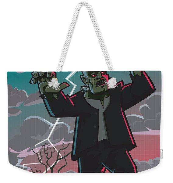 Frankenstein Creature In Storm  Weekender Tote Bag