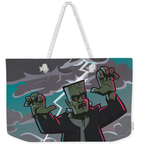 Frankenstein Creature In Storm  Weekender Tote Bag