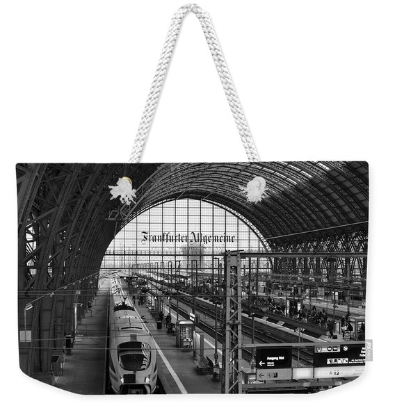 Frankfurt Bahnhof - Train Station Weekender Tote Bag