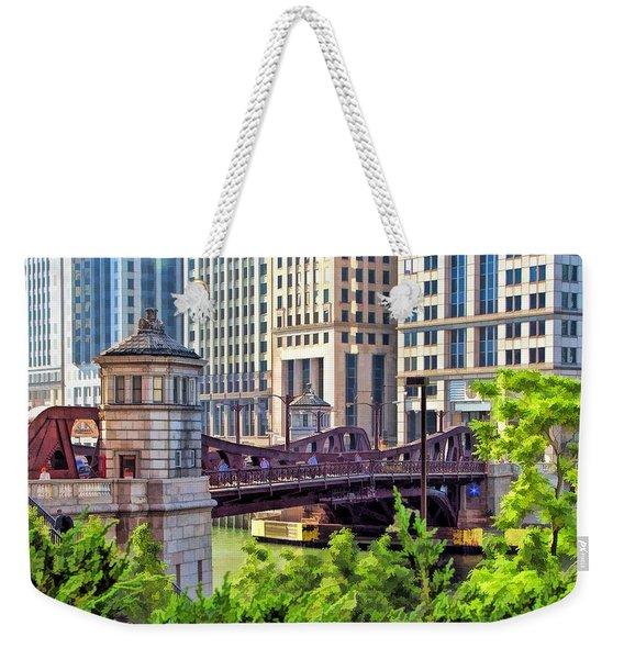 Chicago Franklin Street Bridge Weekender Tote Bag