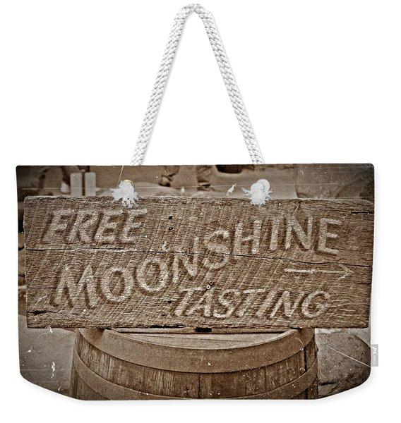 Free Moonshine Weekender Tote Bag
