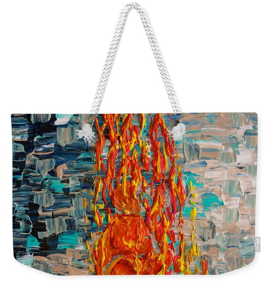 Weekender Tote Bag featuring the painting Free Tibet by Jacqueline Athmann