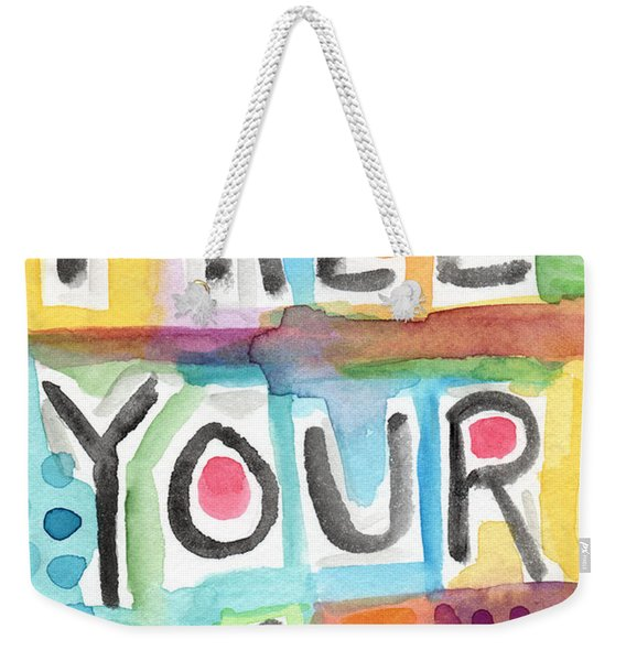 Free Your Mind- Colorful Word Painting Weekender Tote Bag