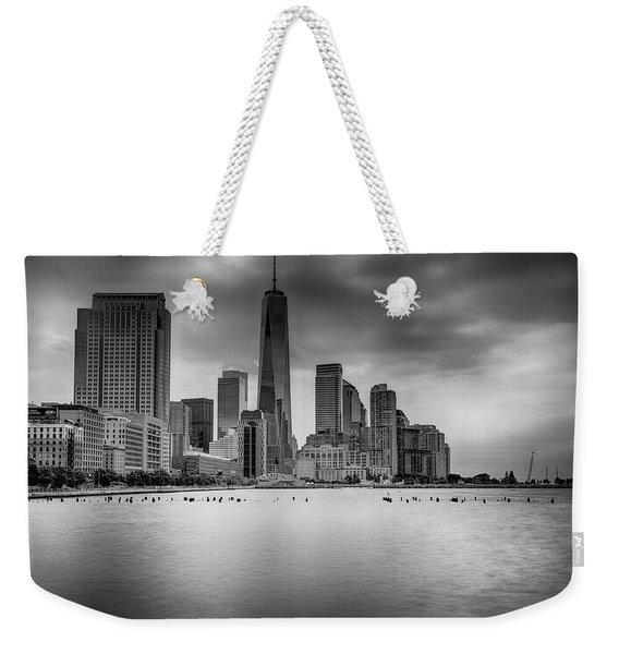 Freedom In The Skyline Weekender Tote Bag