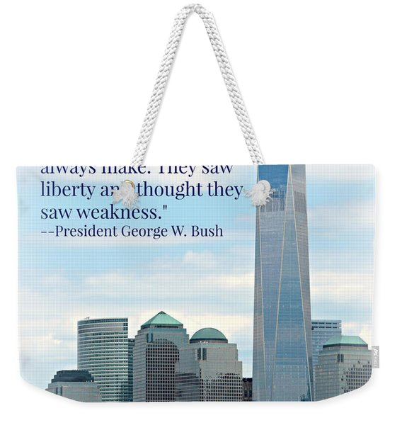 Freedom On The Rise Weekender Tote Bag