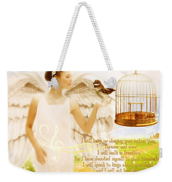 Freedom Song With Scripture Weekender Tote Bag