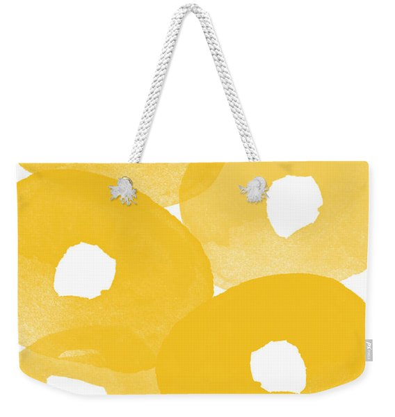 Freesia Splash Weekender Tote Bag