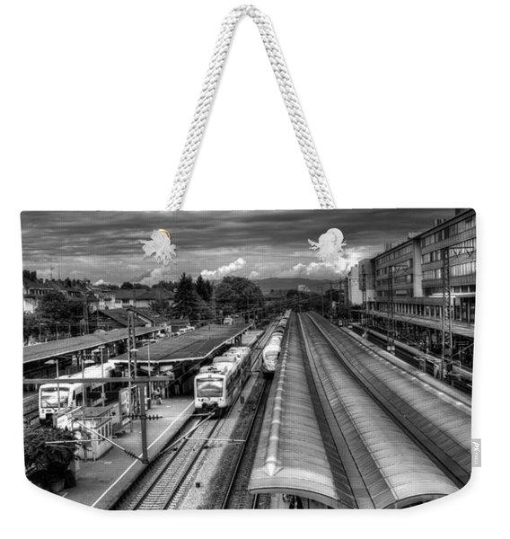 Freiburg Hauptbahnhof  Weekender Tote Bag
