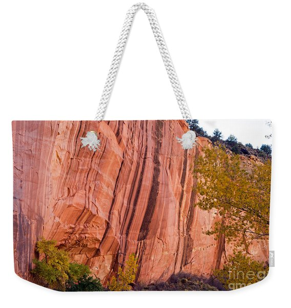 Fremont River Cliffs Capitol Reef National Park Weekender Tote Bag