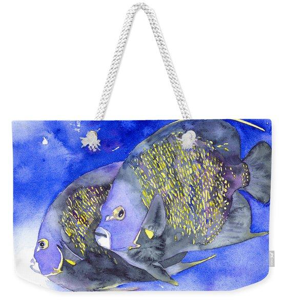 French Angelfish Weekender Tote Bag