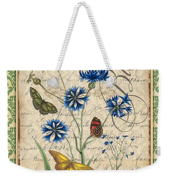 French Botanical Damask-b Weekender Tote Bag