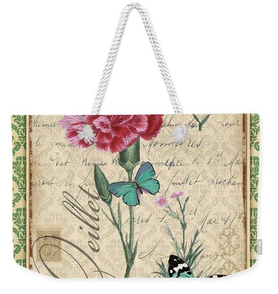 French Botanical Damask-c Weekender Tote Bag