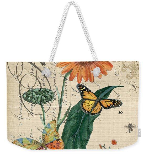 French Botanical-souci Weekender Tote Bag