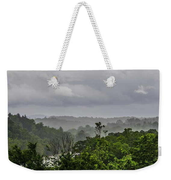 Weekender Tote Bag featuring the photograph French Broad River by Carolyn Marshall