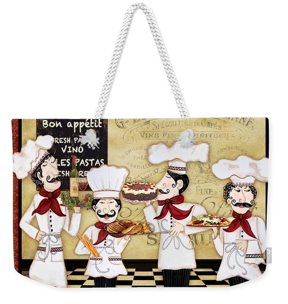 French Chefs-bon Appetit Weekender Tote Bag