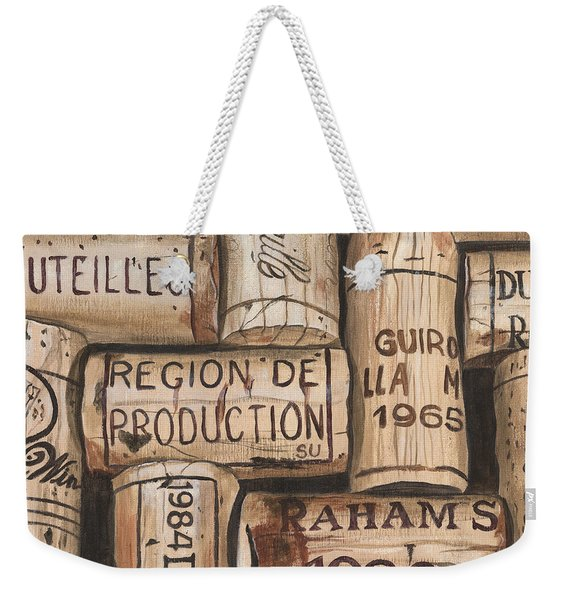 French Corks Weekender Tote Bag