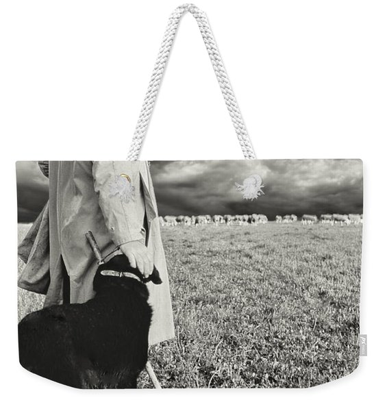 French Shepherd - B W Weekender Tote Bag