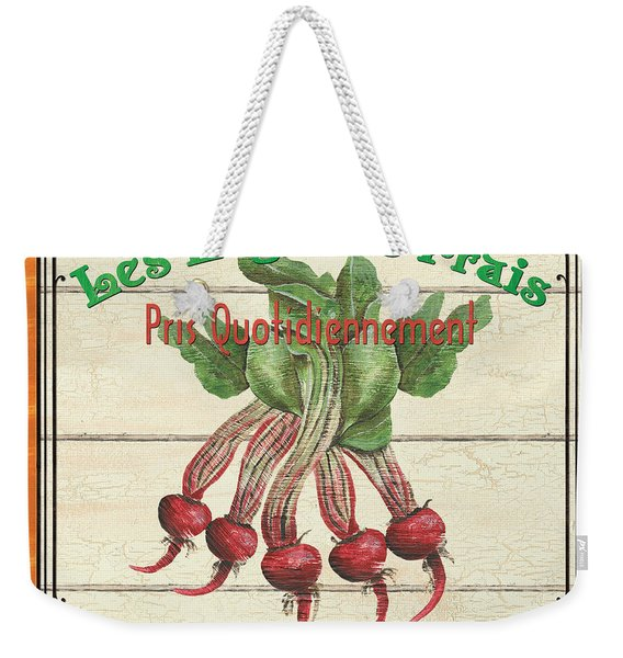 French Vegetable Sign 4 Weekender Tote Bag
