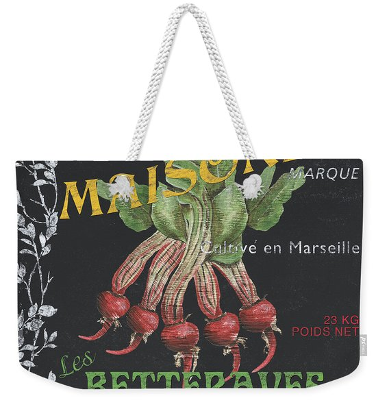 French Veggie Labels 2 Weekender Tote Bag