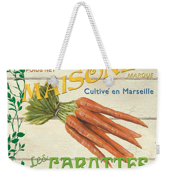 French Veggie Sign 2 Weekender Tote Bag