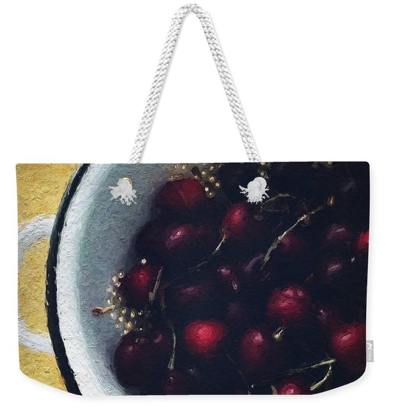 Fresh Cherries Weekender Tote Bag