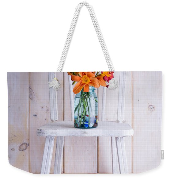 Fresh Day Lilly Flowers  Weekender Tote Bag