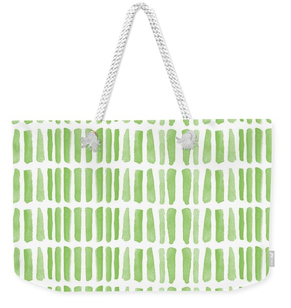 Fresh Grass- Abstract Pattern Painting Weekender Tote Bag