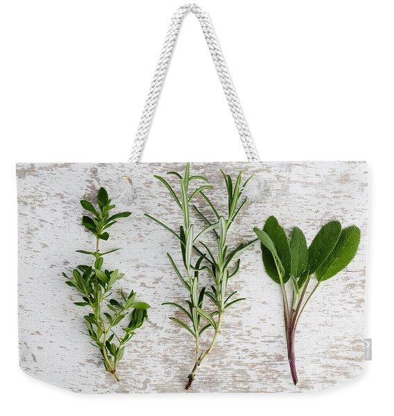 Fresh Herbs Weekender Tote Bag
