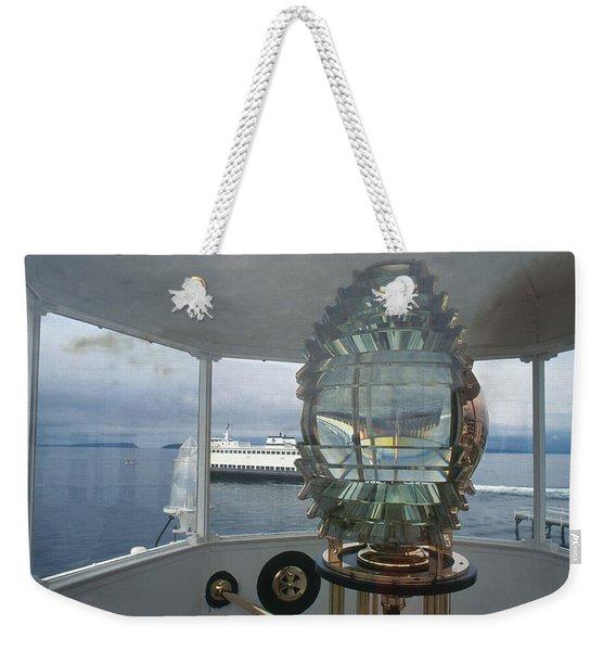 Fresnel Lens In Mukilteo Lighthouse Weekender Tote Bag