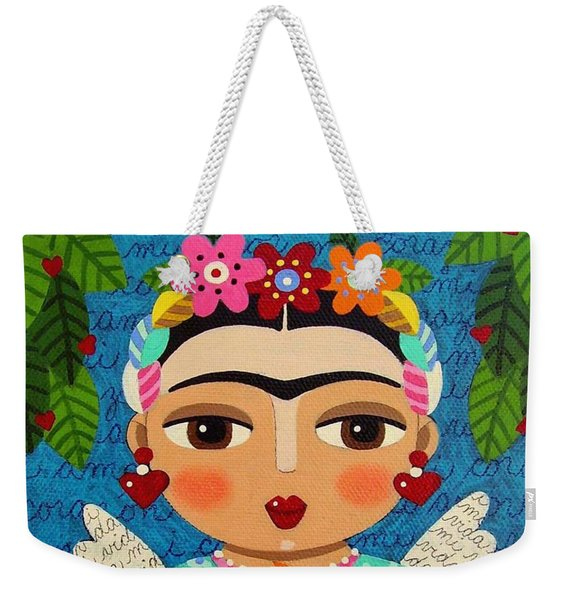 Frida Kahlo Angel And Flaming Heart Weekender Tote Bag