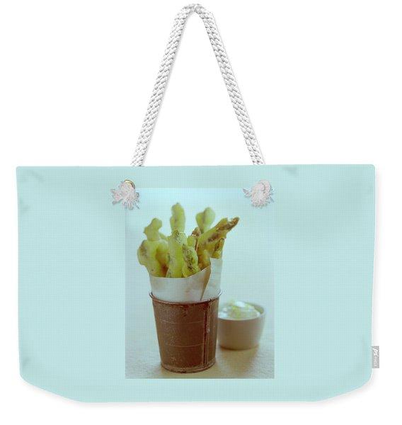 Fried Asparagus Weekender Tote Bag