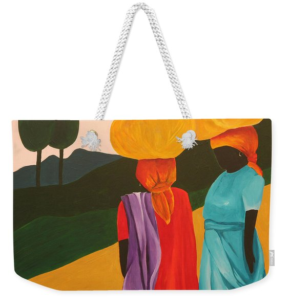 Friendly Encounter Weekender Tote Bag