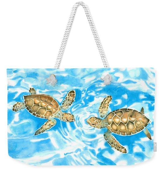 Friends Baby Sea Turtles Weekender Tote Bag