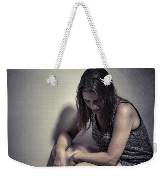 Frightened Woman Weekender Tote Bag