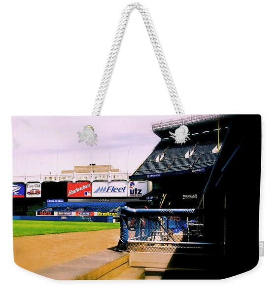 From The Dugout  The Yankee Stadium Weekender Tote Bag