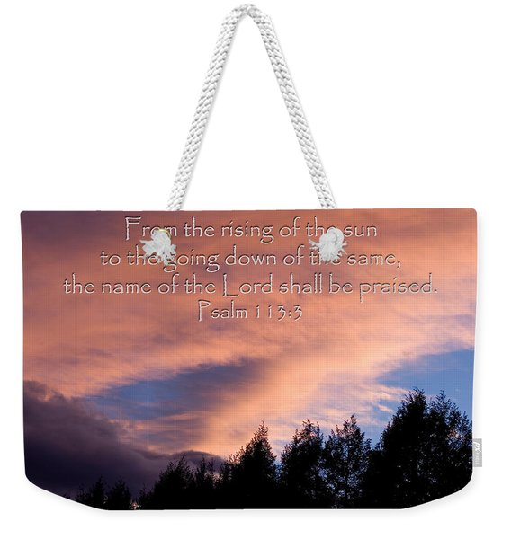 From The Rising Of The Sun Weekender Tote Bag