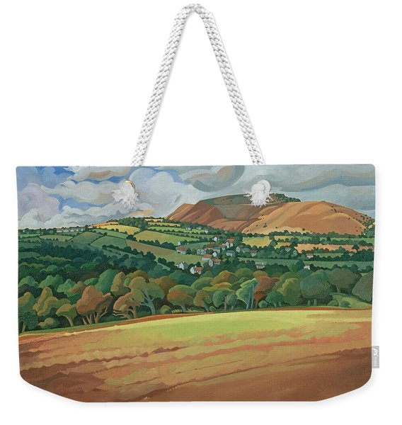 From The Train South Devon, No.2 Oil On Canvas Weekender Tote Bag