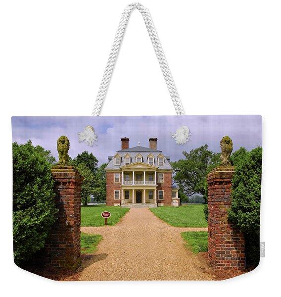 Front Gates Of Shirley Plantation Weekender Tote Bag
