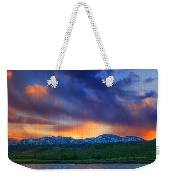 Front Range Light Show Weekender Tote Bag
