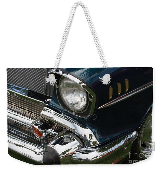 Front Side Of A Classic Car Weekender Tote Bag
