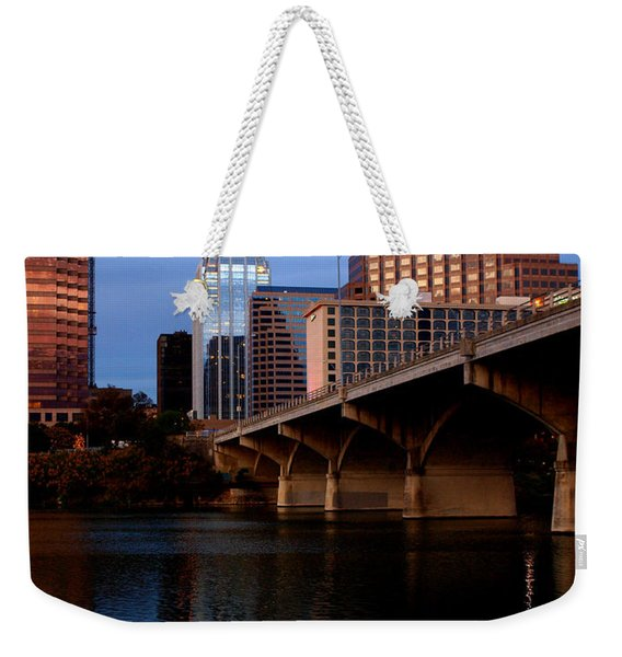 Frost Across The River Weekender Tote Bag