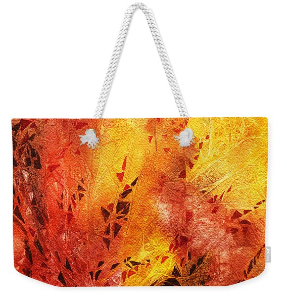 Frosted Fire IIi Weekender Tote Bag