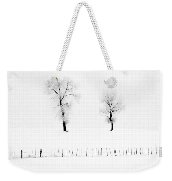 Frosted Trees Weekender Tote Bag
