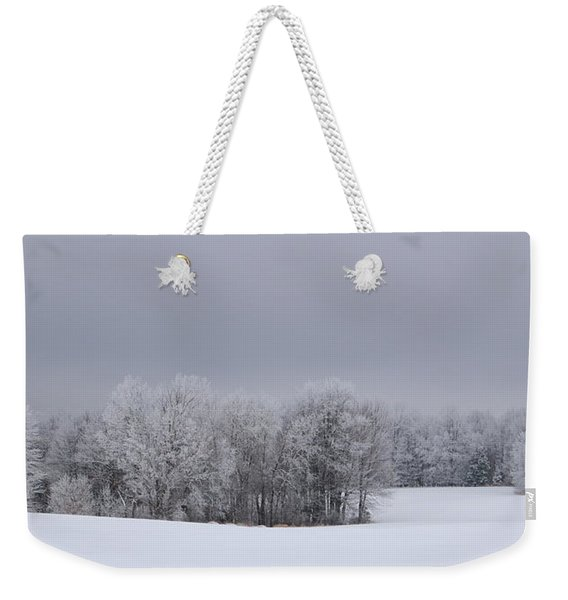 Frosty Farm Fields Weekender Tote Bag