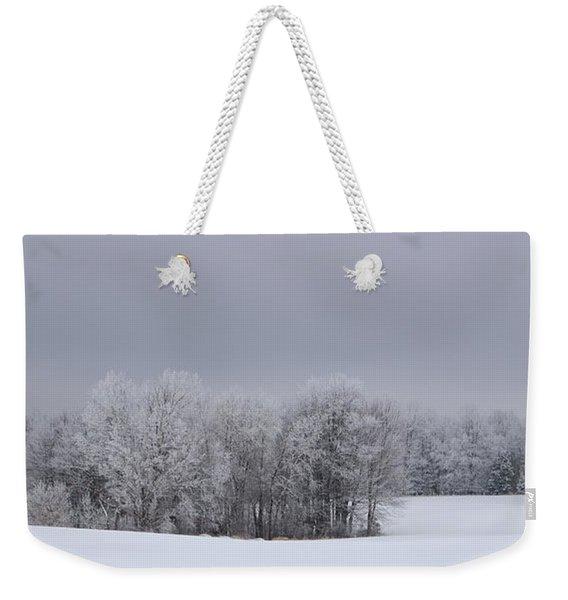 Frosty Farm Fields Weekender Tote Bag