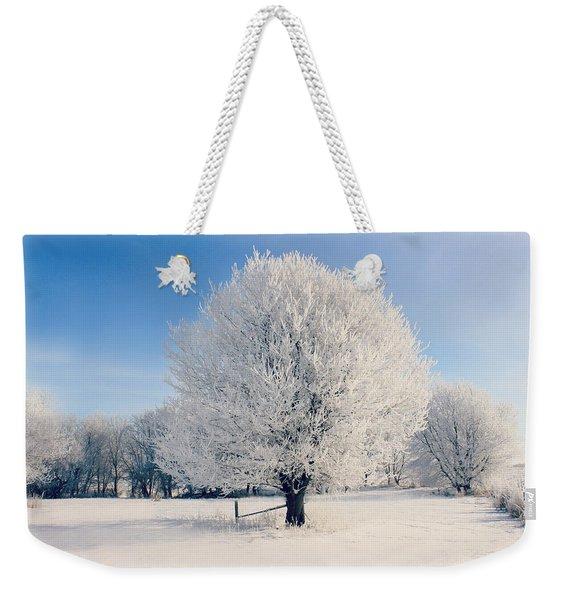 Frosty Glow Weekender Tote Bag